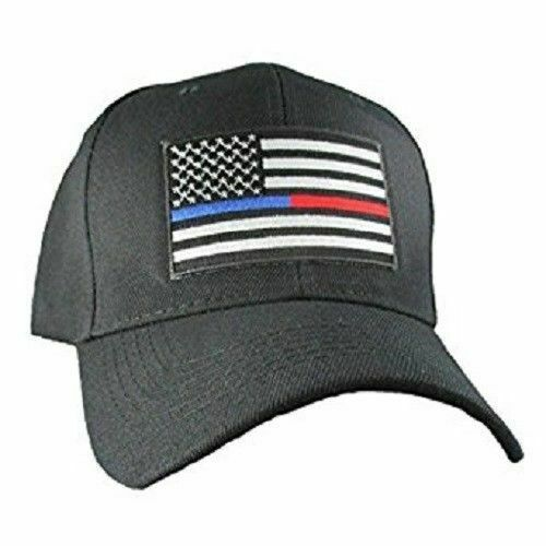 Thin Blue Line Red Line Hat Support Police Fire Firefighter Law Enforcement Cap - $21.77