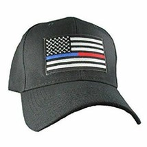 Thin Blue Line Red Line Hat Support Police Fire Firefighter Law Enforcem... - $21.77