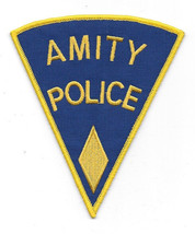 Jaws Movie Amity Police Sheriff Logo Shoulder Patch, Yellow Diamond NEW ... - $7.84