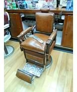 Vintage Koken Barber Supply Co. Barber Chair Wood - $8,500.00