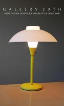 MID CENTURY MODERN YELLOW LIGHTOLIER SAUCER LAMP! EAMES 50S VTG ATOMIC L... - €513,17 EUR