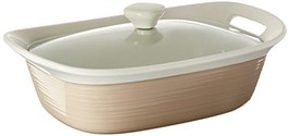 CorningWare Etch 2.5 quart Oblong Dish with Glass Cover in Sand - $51.59