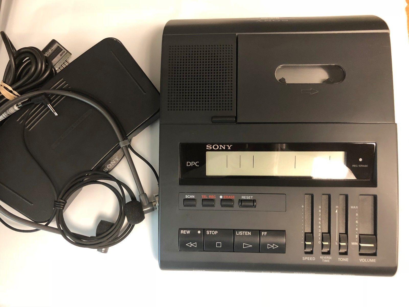 Panasonic RR830 standard cassette transcriber with foot pedal /& warranty
