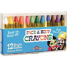 Dress Up America 12 Color Face Paint Safe & Non-Toxic Face and Body Cray... - $18.95