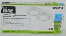 Project Source 0749834 LED Flushmount Ceiling Fixtures Two Count image 3