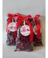 Dried Rose Petals Set with ribbon,Natural Rose,Centerpiece deco,Potpourr... - $10.63