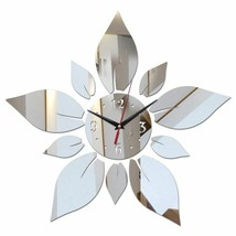 Petals of Flower Modern Large Wall Clock Diy Mirror Surface Office Home ... - $27.68