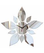 Petals of Flower Modern Large Wall Clock Diy Mirror Surface Office Home ... - $27.67