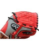 "RAWLINGS Player Series Red Black Tee Ball Glove PL10SS 10"" RH Throw - $9.64"