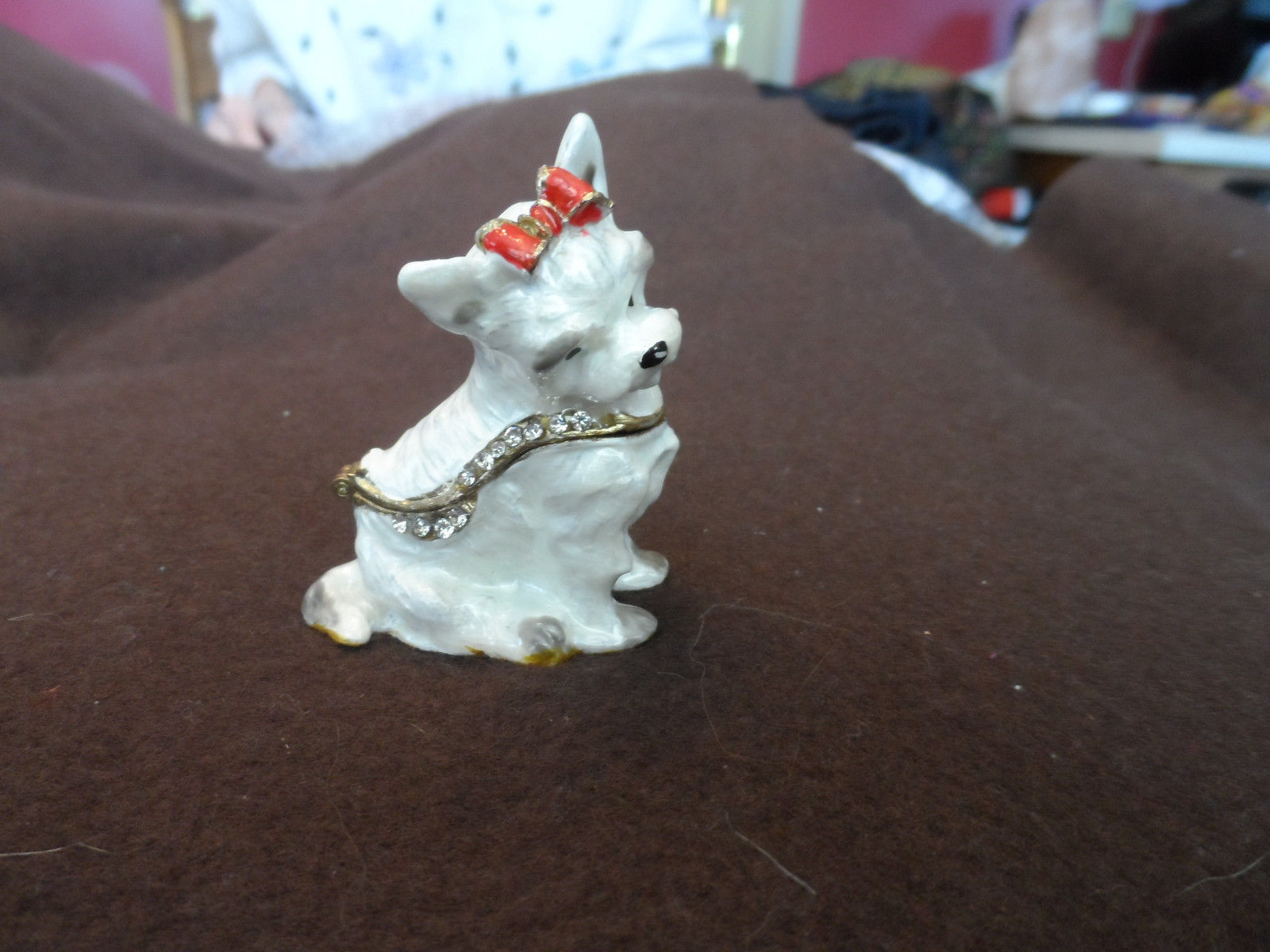 New metal hinged, jeweled trinket box - choice image 12