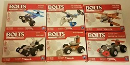 Bolts by Meccano | Set of 6 Construction Sets - Planes, Cars, Etc | Bran... - $19.38