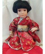 """Japanese Asian Show Stoppers Porcelian Doll Kyoko 10"""" Sitting. w/ pillow... - $29.65"""