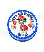 Paw Patrol Marshall ROUND edible cake image frosting sheet topper - $8.86