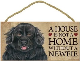 """House is Not a Home without a Newfoundland Sign Plaque Dog 10"""" x 5"""" - $9.95"""