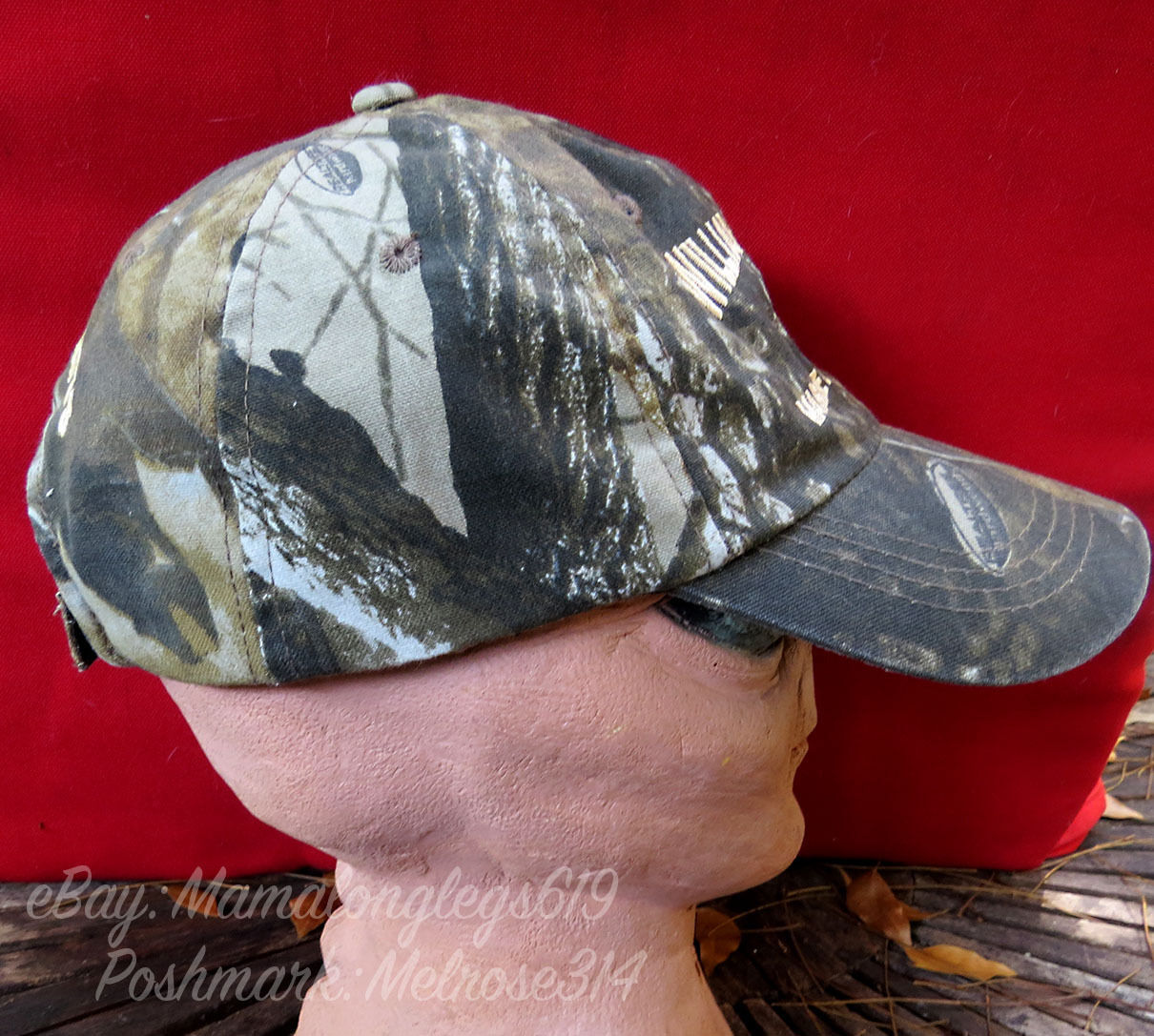 Realtree Camouflage Strapback Hat Cap Williamson Bros Marine Construction Docks