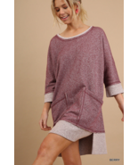 Umgee 3/4 Sleeve French Terry  - $40.00