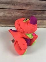 Vtg Fisher Price Dino roar 1992 Puffalump Dinosaur Pink Purple Squeaks P... - $26.70