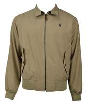 Polo Ralph Lauren Mens Beige Bi-Swing Windbreaker Jacket Coat Sz 2XL XXL 7393-3 - $168.29