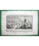 HOLLAND Marriage Ceremony at Amsterdam - 230 yrs Old Original Engraving - $14.85
