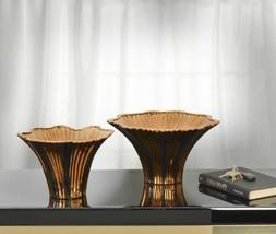 Copper and Black Vase Set of 2 - $98.01