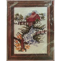 Watermill Counted Cross Stitch Kit Vintage 5 x 7 in Landscape River Buci... - $7.99