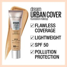 B1 G1 AT 20% OFF Maybelline Dream Urban Cover Full Protective Foundation... - $3.99+