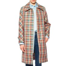 BURBERRY Bright Red IP Check Plaid Coat Unisex Women's UK12 44EU 10US NW... - $1,583.01