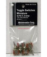 Miniatronics~#36-210-04~Toggle Switches~Miniature~120VAC,5 Amp~S.P.D.T.~... - $10.00