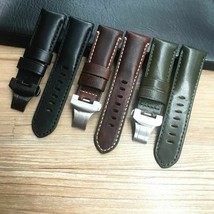 24mm Genuine Leather Watchband For PAM Panerai PAM00441 PAM006 Watch Strap Bands - $30.70+