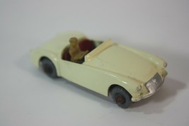 Lesney Matchbox MG A Sports Car No 19 With Driver Gray Wheel 1950's - $79.15