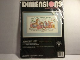 """Dimensions Counted Cross Stitch Kit """"Toy Shelf Birth Record"""" New 16"""" x 9"""" - $14.65"""