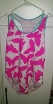 Juicy Couture Childrens Pink And White Butterfly One Piece Swimsuit Size... - $9.89