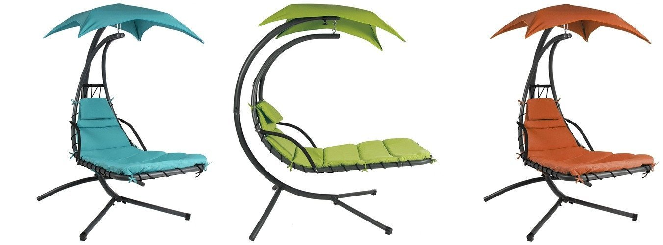 Single Person Sturdy Modern Chaise Hammock Porch Swing-Various Colors - $343.99 - $400.99