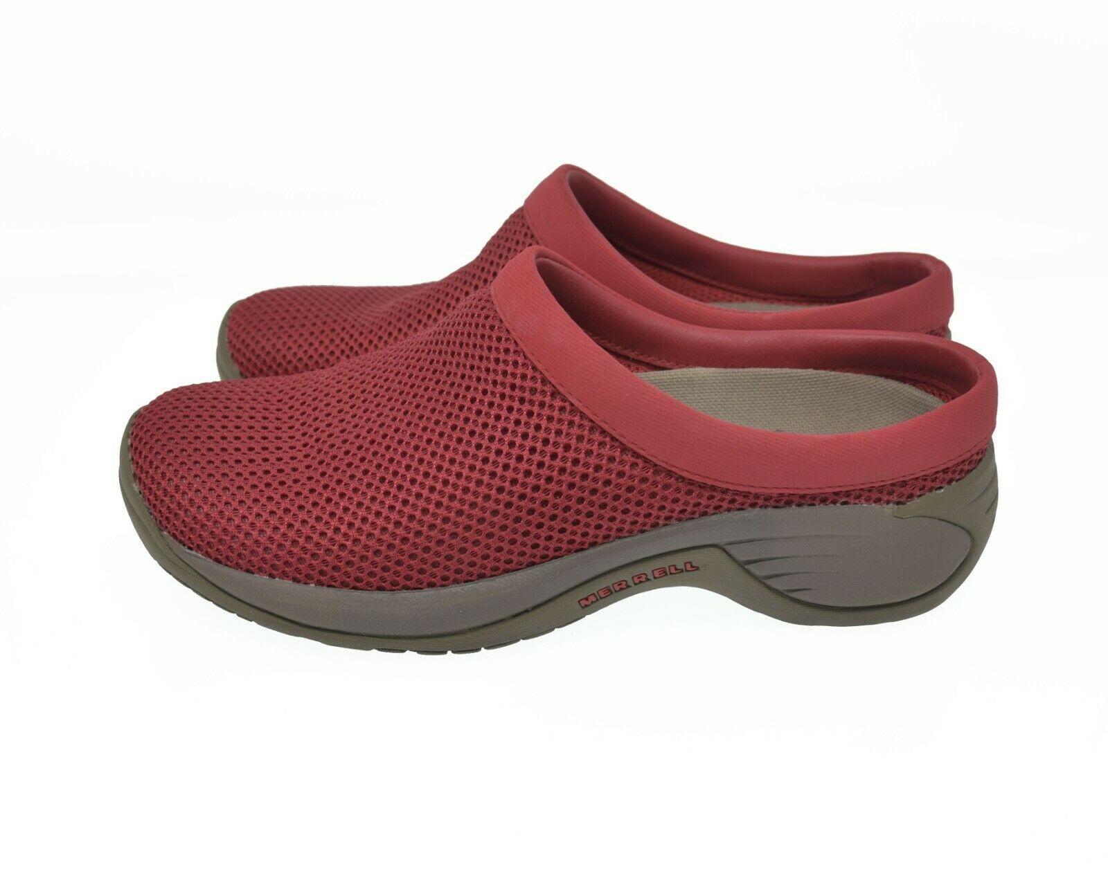 Merrell Q Form Air Cushion Women's Sz 7.5 EU 38 Red Ortholite Slip On Comfort