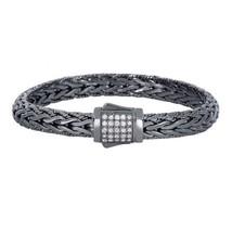 Phillip Gavriel Sterling Silver Woven White Sapphire Bracelet Black Rhodium - $599.99+