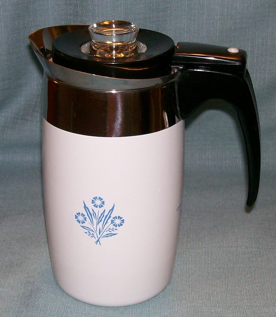 Corning Ware BLUE CORNFLOWER Electric Coffee Pot/Percolator 6 cup P-6-EP VGVC  image 10