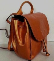 New Coach 16605 Derby Leather small backpack Metallic Tangerine - $99.00