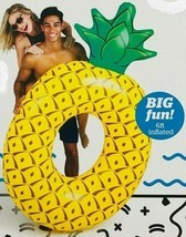 Pool Float NWT Big Mouth Giant Pineapple 6' Foot Inflated 72 x 46 x 14 Tube - $21.37