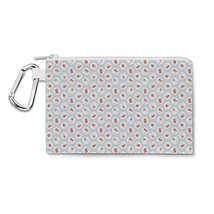 Shabby Chic Florals on Blue Canvas Zip Pouch - $15.99+