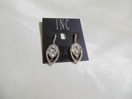 "INC International Concepts 1-3/4""Gold Tone Crystal Dangle Drop Earrings ... - $9.59"