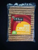 "Ol' Roy Rawhide 5"" Munchy Sticks Dog Treats 50 Count Per Bag image 3"