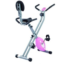 Folding Recumbent Exercise Bike Fitness Cycle Pulse Gym Display Cardio M... - $195.22