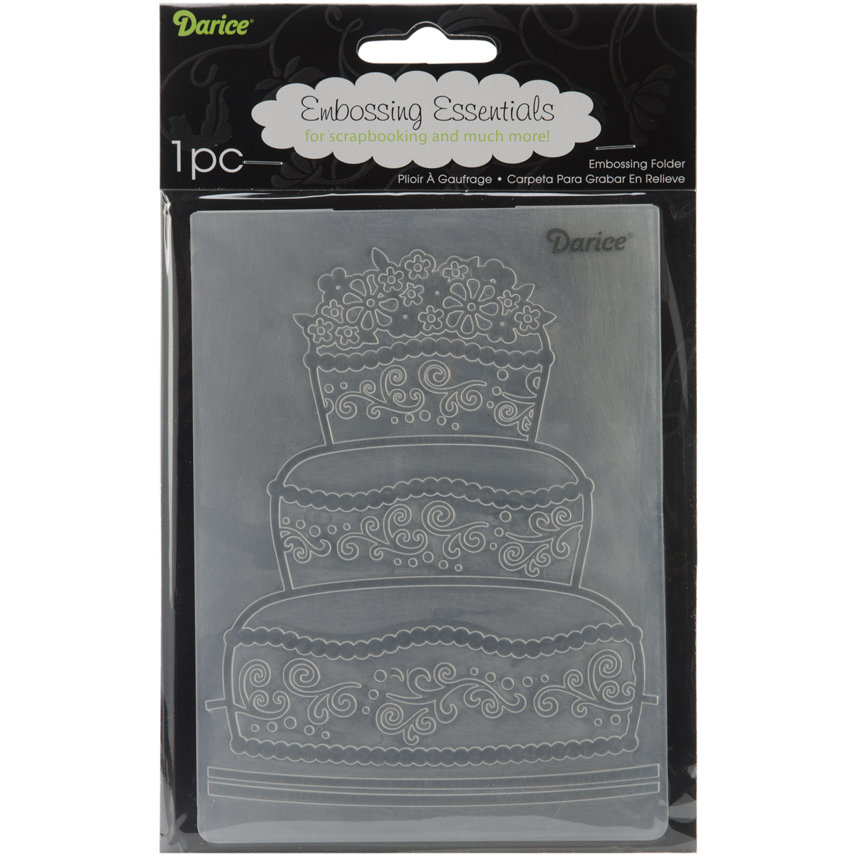 Embossing Folder Fancy Cake 4.25 X 5.75 Inches - $6.46