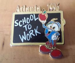 Atlanta 1996 Olympic Izzy Mascot School To Work Teacher Lapel Pin 1 1/4 ... - $12.86