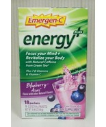 Emergen-C Energy Plus Frizzy Drink Mix Blueberry Acai 18 Packets EXP 03/... - $54.45