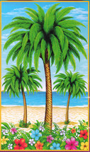 Luau Scene Setter PALM TREE DOOR COVER Poster Mural Tiki Bar Party Decor... - $5.91