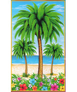 Luau Scene Setter PALM TREE DOOR COVER Poster Mural Tiki Bar Party Decor... - $5.91