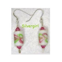 European Style SS Crystal Drop/Dangle Earrings Pink Green White - $10.99