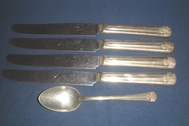 Vogue 4 Knives & 1 Teaspoon Vintage 1930's Silverplate inv2003 - $9.70