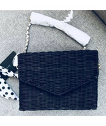 Zara Black Raffia Cross Body Bag - $49.99